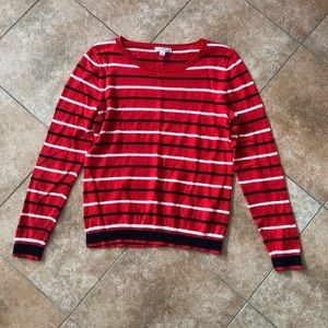 LIKE NEW J CREW MERCANTILE RED THIN SWEATER TOP